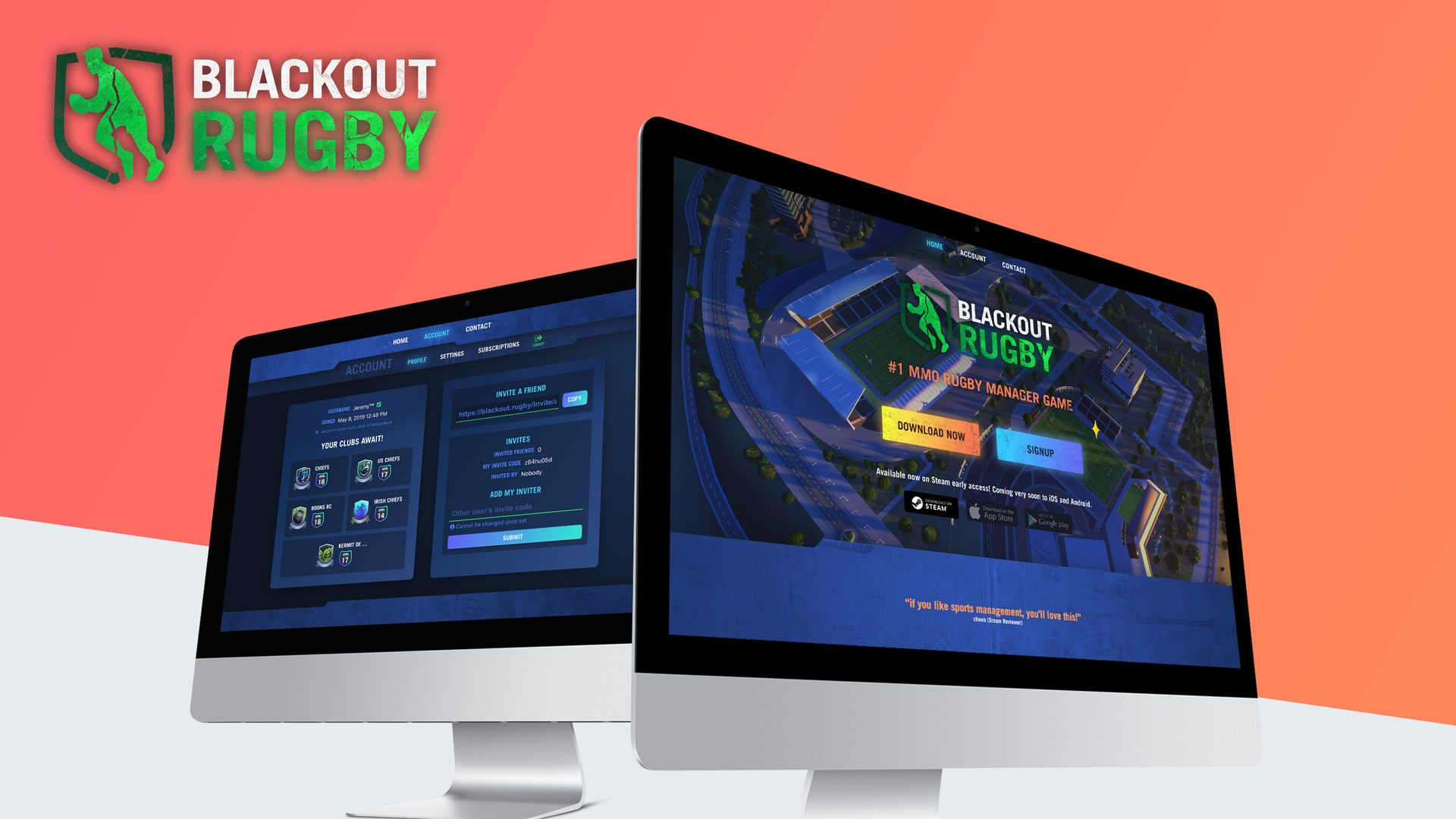 New website released for blackout rugby